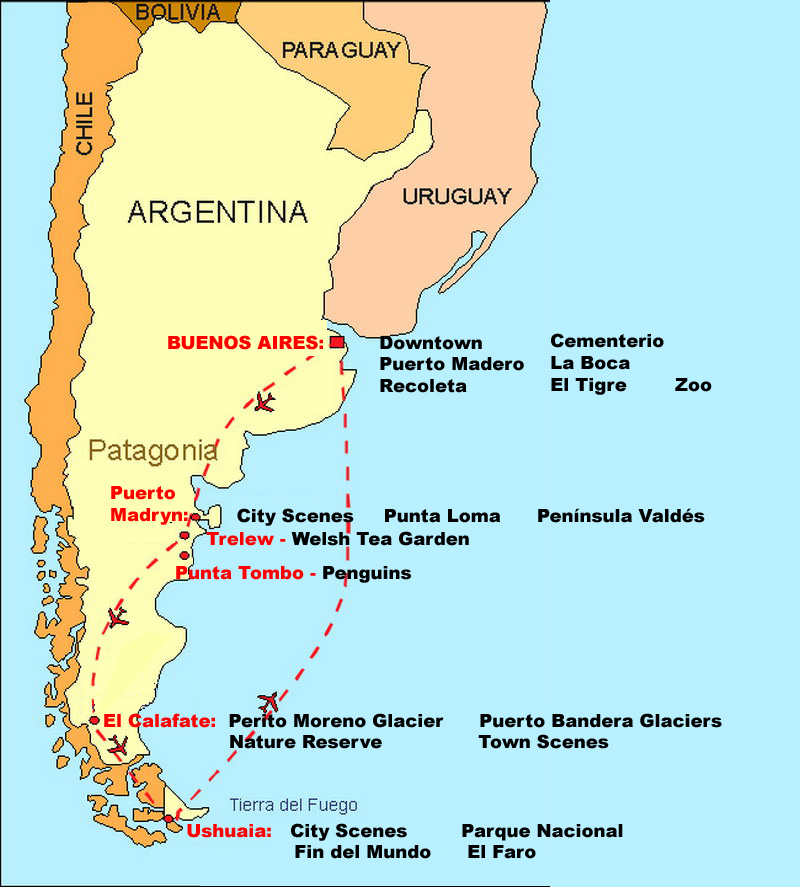 Obryadii Map Of Argentina With Cities - Argentina map cities